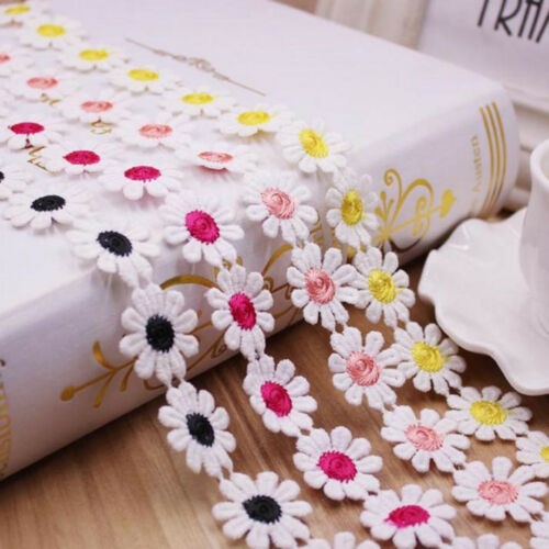3 Yards Daisy Venice Applique Lace Flower Sewing Trim Craft Ribbon for Dress