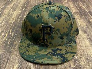 Pittsburgh Pirates Green Digital Camo MLB Baseball New Era Hat - 7 1/4