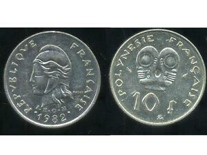 IngéNieux Polynesie Francaise 10 Francs 1982 ( Bis )