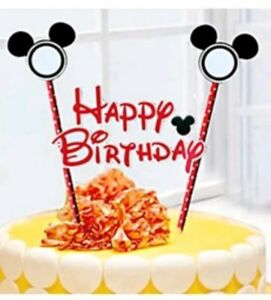 Strange Mickey Mouse Birthday Cake Topper Decoration Party Supplies Ebay Birthday Cards Printable Trancafe Filternl