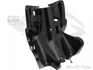 Innenraum Beinschild schwarz matt Yamaha Aerox MBK Nitro Verkleidung Trittbrett