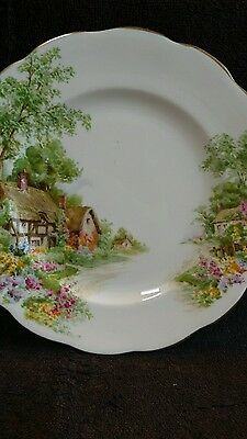 "Roslyn China Plate- Wayside Pattern. 8"" Diameter"