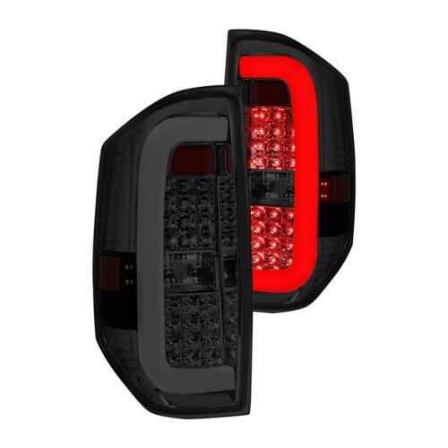 For Toyota Tundra 14-19 Lumen Chrome//Smoke C-Shape Fiber Optic LED Tail Lights