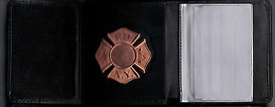 Badge Not Included NY//NJ Fire Dept-Style FireFighter Maltese Cross Snap Wallet