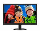 "Philips 243V5QHABA 23.6"" Widescreen MVA LCD Monitor - Black"