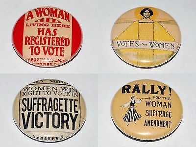 Suffragette Images Button Badge 25mm / 1 inch Women's Rights Feminist Feminism