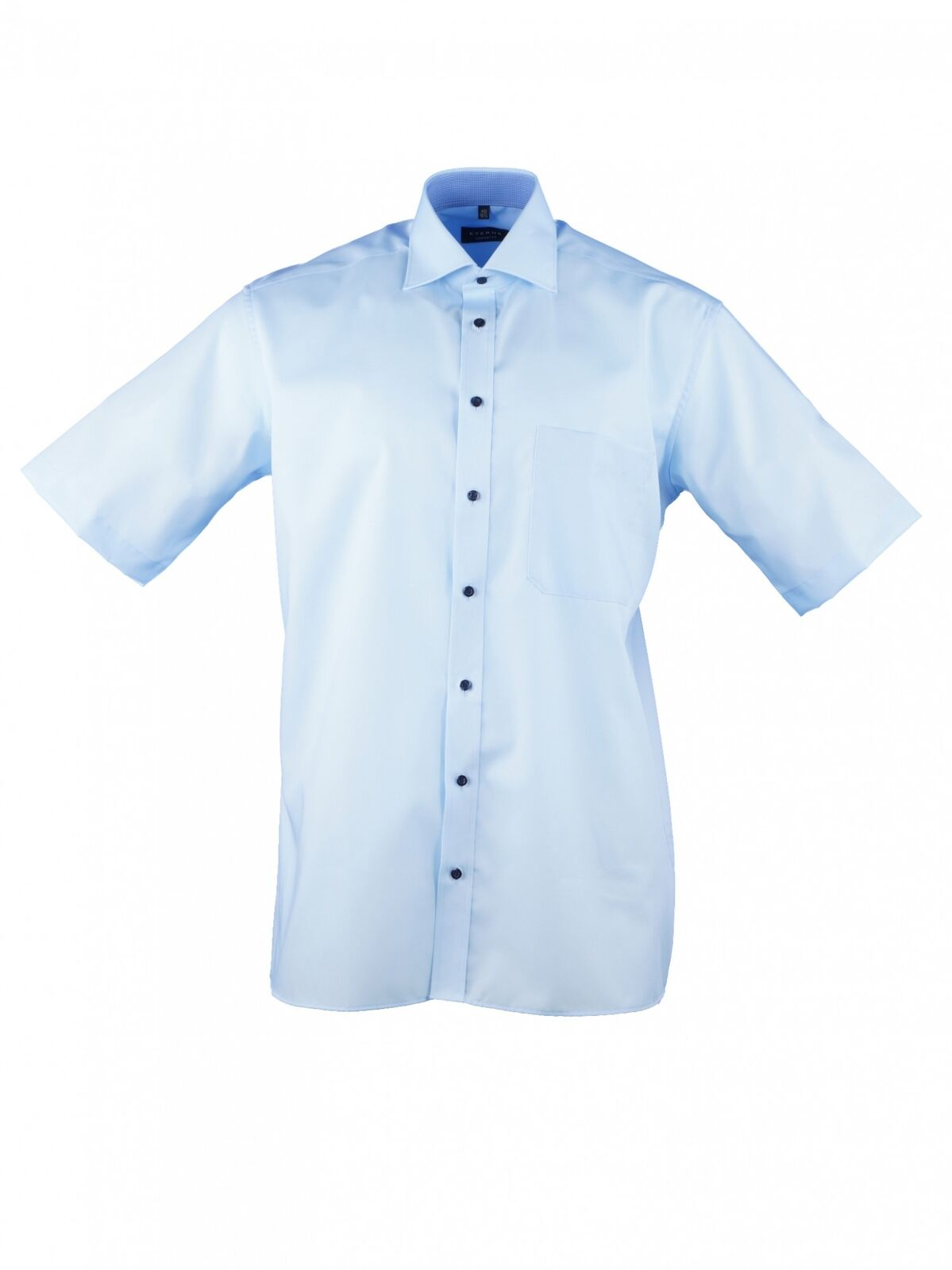 Eterna Herren Hemd Kurzarm L 42 Comfort Fit Blau 3215 11 K147      Feine Verarbeitung