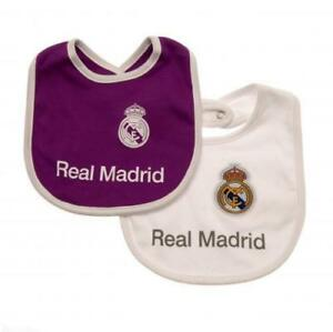 cedf27259 Image is loading Real-Madrid-Baby-Bibs-2-pack