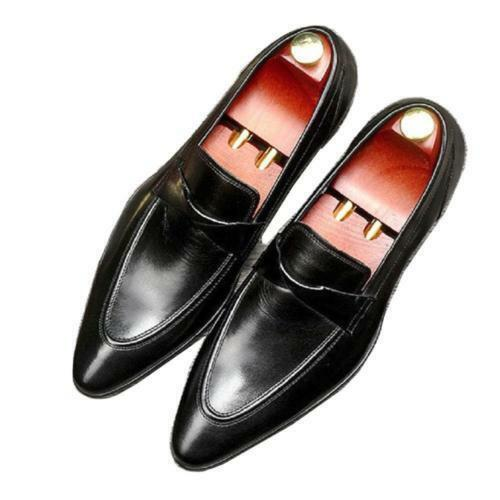 Size Size Size 5-11 Pointed Toe Uomo Slip On Formal Pelle Dress Loafer Shoes Zsell 59c2ba