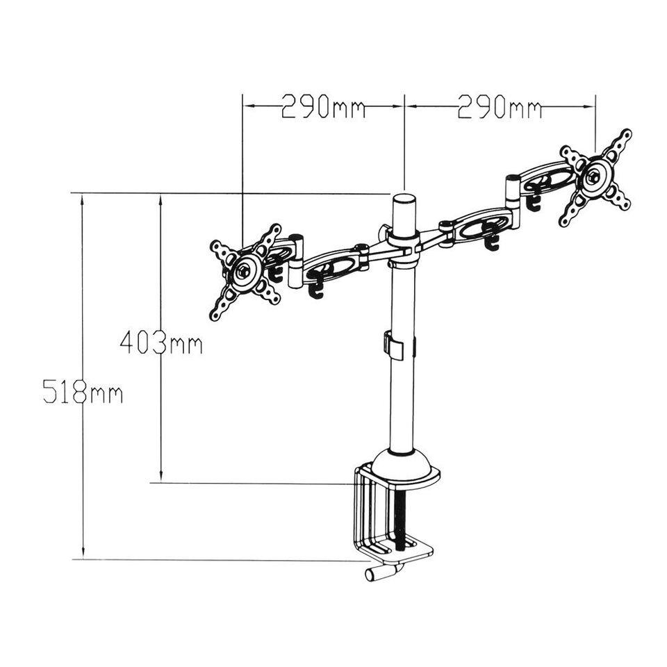 Dobbelt skærmholder 25-61 cm (10-24 tommer)