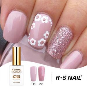 RS-Nail-Gel-Smalto-UV-LED-Smalto-Soak-Off-Colore-Rosa-Glitter-134-251-30ml