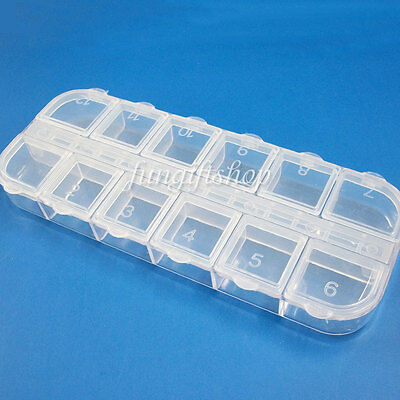 Empty Clear Containers Storage Box Case For Dust Glitter Rhinestone Decoration