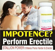 STALLION POWER - ERECTILE MALE ENHANCEMENT CAPSULES NATURAL SEXUAL PLEASURE