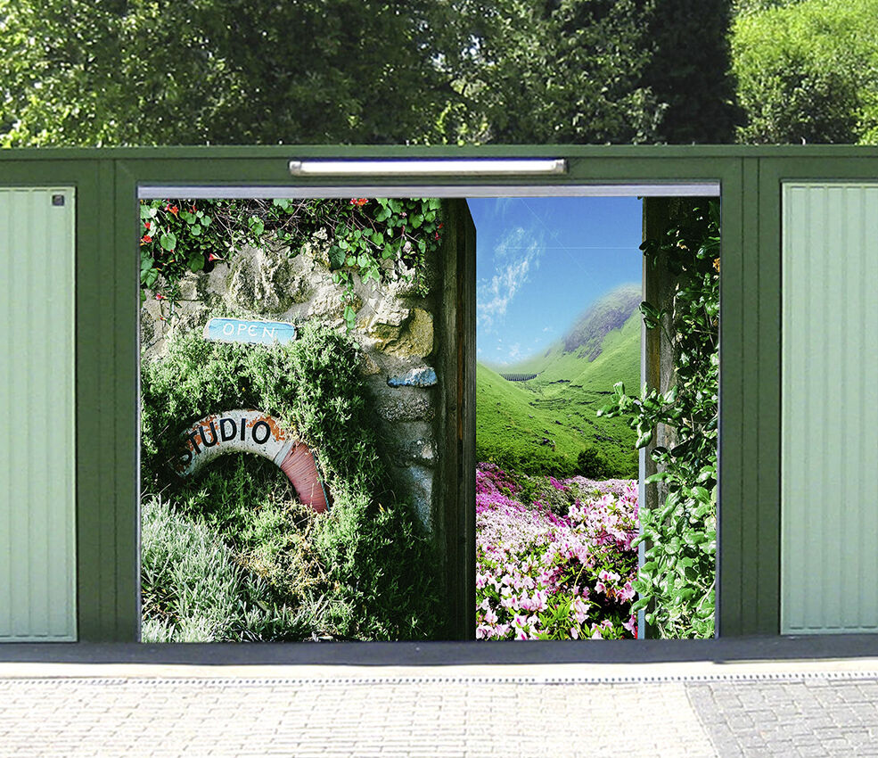 3D Pretty Farm 83 Garage Door Murals Wall Print Decal Wall AJ WALLPAPER UK Carly