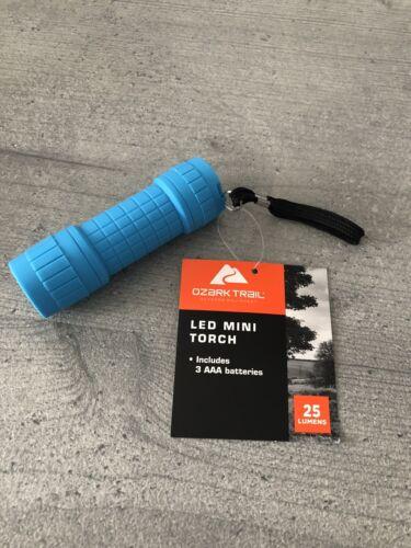 Brand New 25 Lumens Ozark Trail LED Mini Torch Blue