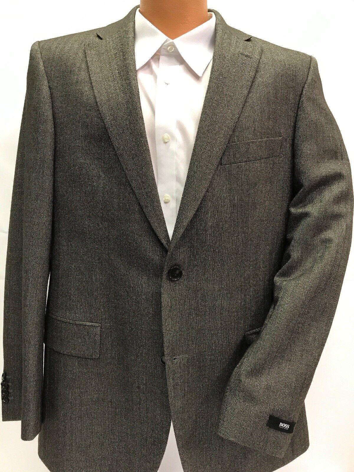 NWT HUGO BOSS grau Braun PASINI2 2-Vent Comfort Fit Sport Coat Wool Silk Blend