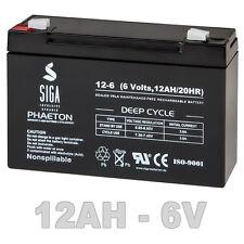 AKKU Blei GEL AGM Batterie 6V 12AH USV kompatibel LC-R0612P LCR0612P 10Ah 6-Volt
