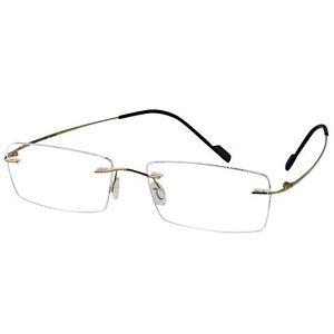 1d9ce118fed Cartier Rimless Sunglasses Black Lens Gold Frame