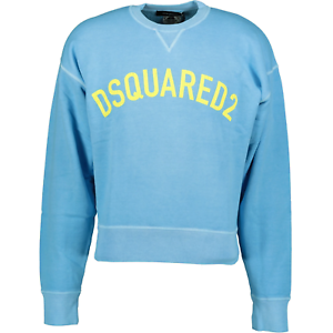 Details about  /DSquared2 Cracked Logo Printed Sweatshirt Blue