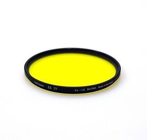 nuevo Stock Heliopan 77 mm Amarillo 12 Filtro