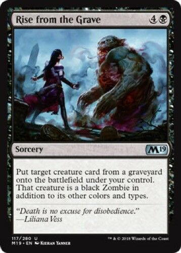 - M19 Magic 2019 Core Set Uncommon 4 x Rise from the Grave 117//280