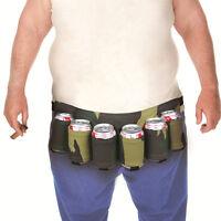Portable 6-Pack Beer Belt Carry Beverages Soda Can Holster Bag Strap Hiking #E