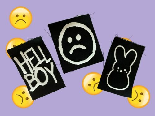 Printed Cotton Lil Emo Peep Style Sew On Patch Set