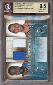 2009-10-r-amp-s-studio-combo-rookies-materials-7-JAMES-HARDEN-rookie-card-BGS-9-5