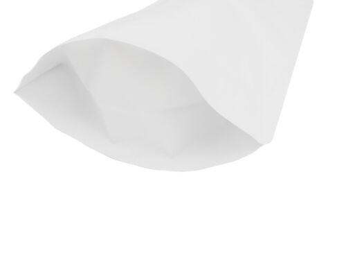 Heat Seal White Aluminium Foil Stand Up Bags Pouches Zip Lock Bag Food Grade