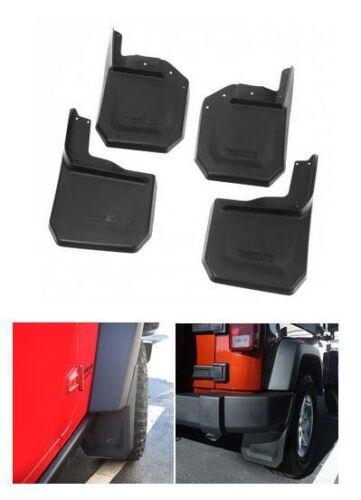 Rugged Ridge Splash Guard Kit 4 Pcs Black For Jeep Wrangler Jk 07-17 X 11642.10