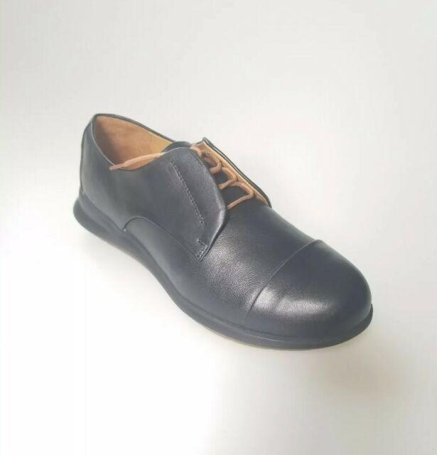 Black Leather Shoes Size 6m NWB