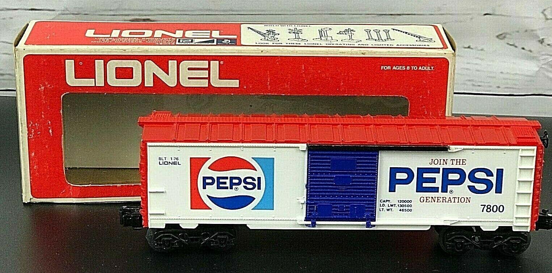Lionel 7800 o Scala Pepsi Generazione autotellone Vagone Completo in Scatola