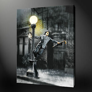 SINGING IN THE RAIN CANVAS WALL ART PICTURES PRINTS 30 x 20 Inch FREE UK P/&P