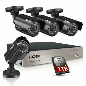 Zosi 8Ch Security Camera System Hd-Tvi Full 1080P Video Dvr Recorder With 4X Hd