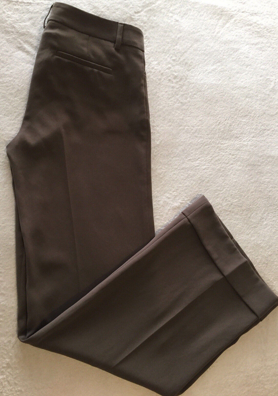 Express Editor Women Brown Trouser Dress Pants Size 2 R