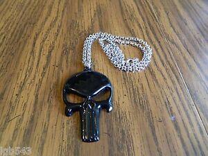 MIP- Gloss Black Finished PUNISHER logo Dog Tag pendant