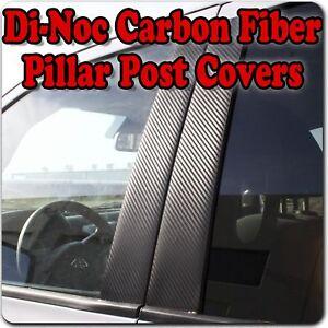 4dr Black Pillar Posts for Hyundai Elantra 01-06 6pc Set Door Trim Cover Kit