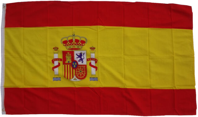 Flagge Spanien 90 x 150 cm mit 2 Metallösen Hissen Hissflagge Fahne Spain WM EM