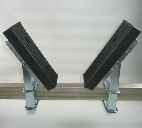 2 x Bootsauflage Auflagekissen 300x100x31 inkl.Montagekit Rohr 40x40mm L:300-600