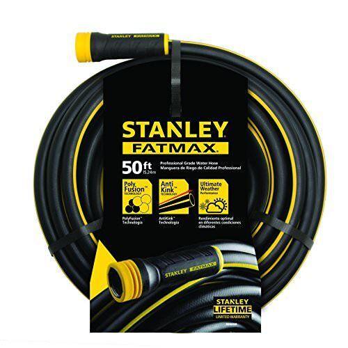 "NEW Stanley FatMax Garden Hose 50/' x 5//8/"" Black FREE2DAYSHIP TAXFREE"