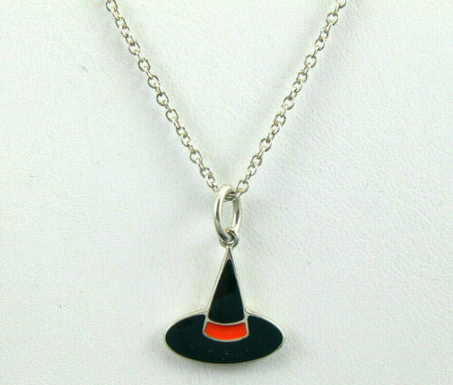 Tiffany & Co Sterling Silver Back & Orange Enamel