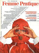 Femme Pratique n°80 decembre 1969 television plats uniques jeux de societe