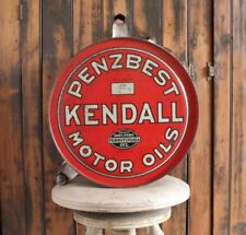 >orig./Rare!! 1927-dated Penzbest Kendall Motor Oils ROCKER CAN Vintage Oil Can