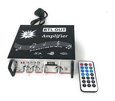 Amplificatore Stereo Hi Fi Auto Casa Con Ingresso Usb SD ...