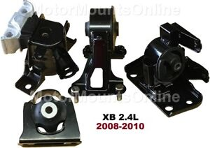 9R3148 4pc Motor Mounts fit 2.4L 2011-2014 CHRYSLER 200 4speed AUTOMATIC Trans