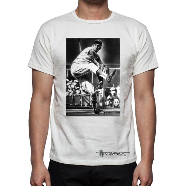 Sandy Koufax LA Dodgers Men's T-Shirt 3 Colors S-XXL art by Dave Hobrecht
