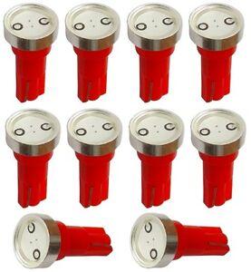 10x-ampoule-T5-12V-LED-HIGH-POWER-1W-rouge-pour-tableau-de-bord