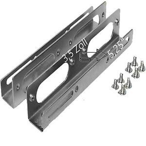 Einbau-Rahmen-SCHIENEN-Winkel-EINBAUWINKEL-3-5-034-Festplatte-5-25-Zoll-Montage-HDD