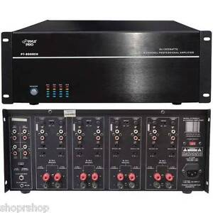 Details about PYLE HOME PT8000CH 8-Channel, 8,000-Watt Stereo-Mono Amp NEW