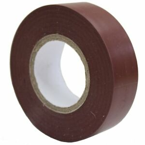 PVC Electrical Insulation Tape 19mm x 33m Brown Pack of 10 FlameRetardant - Barrow In Furness, United Kingdom - PVC Electrical Insulation Tape 19mm x 33m Brown Pack of 10 FlameRetardant - Barrow In Furness, United Kingdom